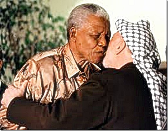 Mandela & Arafat in embrace